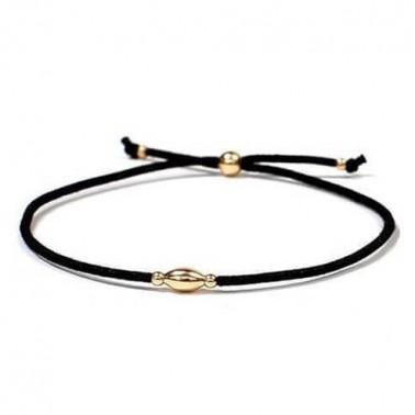 Bracelet perle ovale or jaune