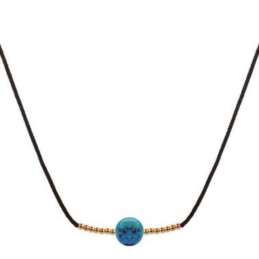 Collier turquoise véritable