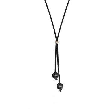 Collier double hématites