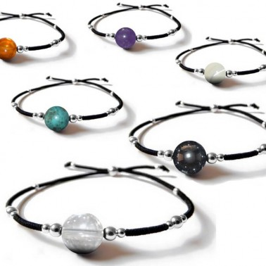Les bracelets pierres fines avec perles en argent