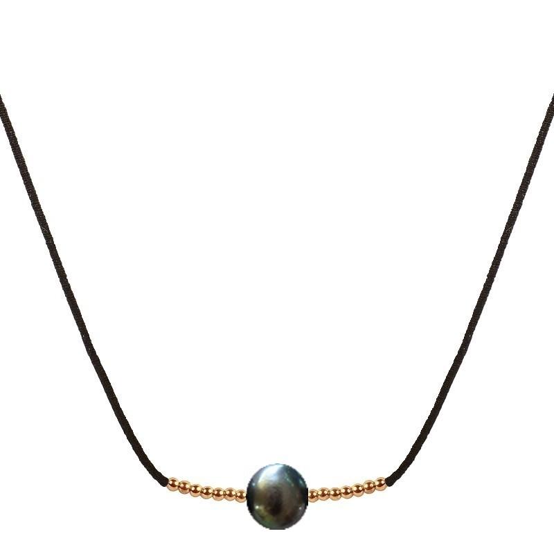 Collier perle de culture noire