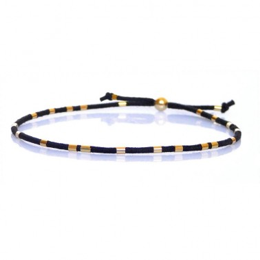 Bracelet tubes gold